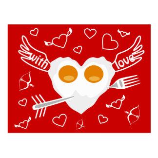 Valentine's day funny heart Custom  Postcard