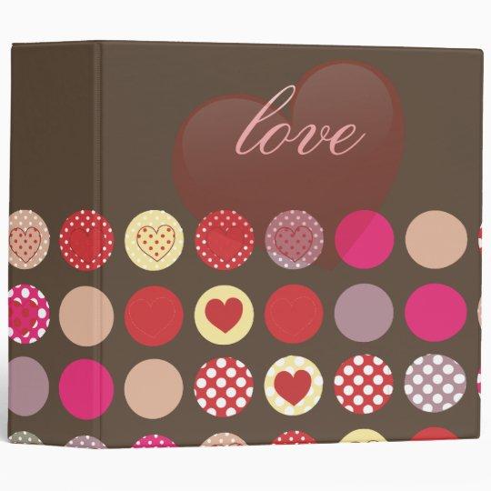 Valentine's day gift, hearts binders