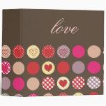 Valentine's day gift, polka dots binders