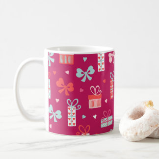 Valentine's Day Gifts Bows Hearts Pink Red Love Coffee Mug