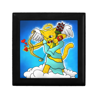 Valentine's Day Ginger Yellow Cupid Cat Gift Box