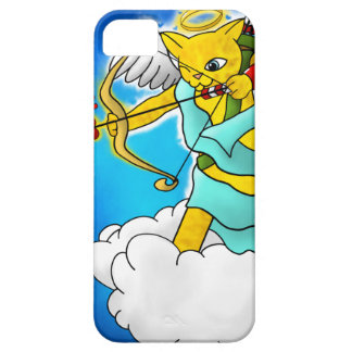 Valentine's Day Ginger Yellow Cupid Cat iPhone 5 Cases