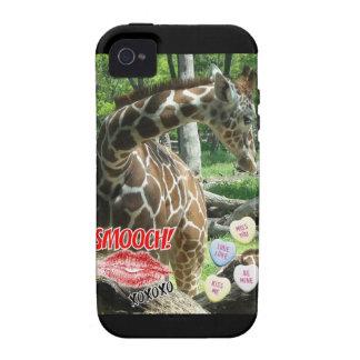 Valentine's Day Giraffe iPhone 4 Covers