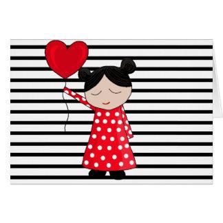 Valentine's day girl card