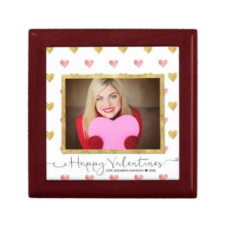 Valentine's Day Glitter Heart Photo Tile Gift Box