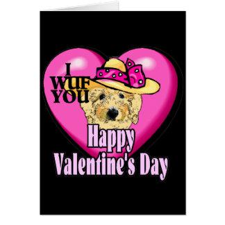 Valentine's Day Goldendoodle Card