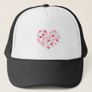 Valentine's Day Happy Party Hearts Trucker Hat