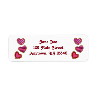 Valentine's Day Heart Cookie Love Address Labels