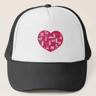 Valentine's Day Heart Full of Gifts of Love Trucker Hat