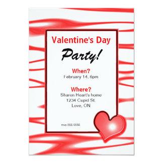 "Valentine's Day Heart Light Party 5"" X 7"" Invitation Card"