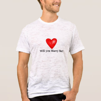 Valentine's Day Heart Marry Me Tee Shirt