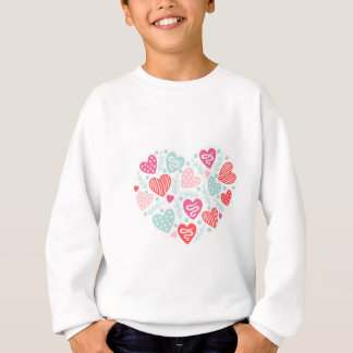 Valentine's Day Heart Pattern with Lines and Dots Sweatshirt