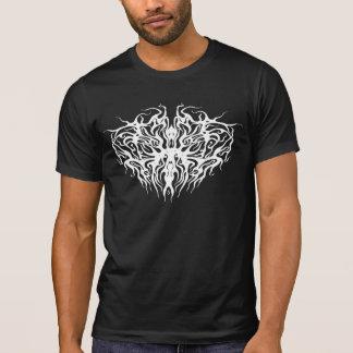 Valentines Day Heart Tribal Tattoo - white black T Shirt