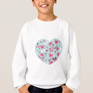 Valentine's Day Hearts and Bows for Loving Gifts Sweatshirt