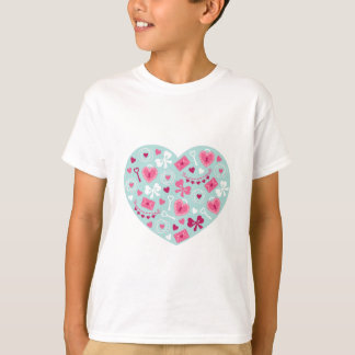 Valentine's Day Hearts and Bows for Loving Gifts T-Shirt