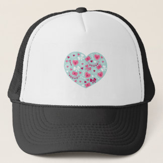 Valentine's Day Hearts and Bows for Loving Gifts Trucker Hat