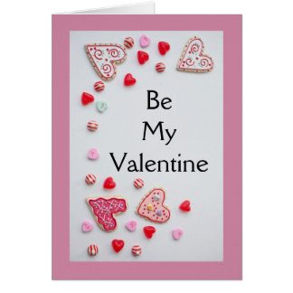 Valentines Day Hearts and Cookies Card