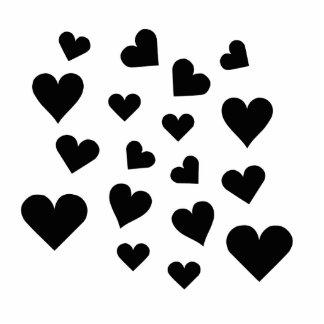 Valentine's Day Hearts Falling Photo Cutouts