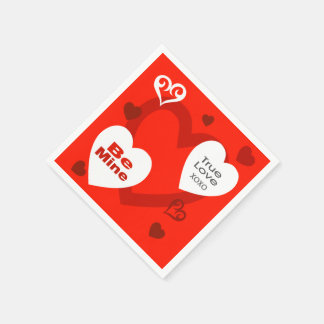 Valentine's Day Hearts Party Napkins Disposable Napkin