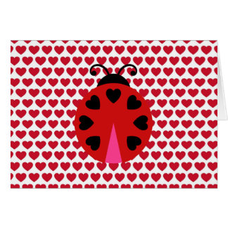 Valentines Day Hearts Pattern Affordable Card