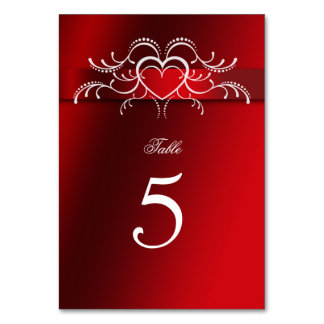 Valentine's Day, Hearts, Wedding, Table Number