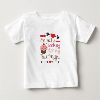 Valentine's Day Humor Cupcake Stud Muffin Baby T-Shirt