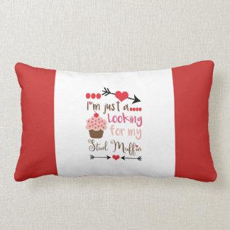 Valentine's Day Humor Cupcake Stud Muffin Lumbar Pillow