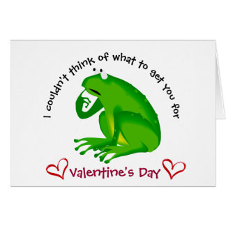 VAlentine's Day Humor, cute Frog Card