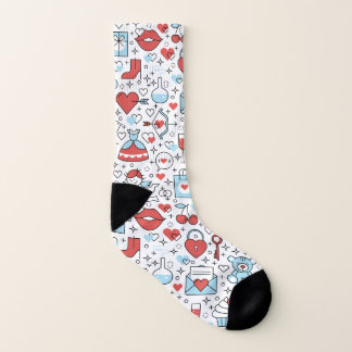 Valentine's Day Icons socks