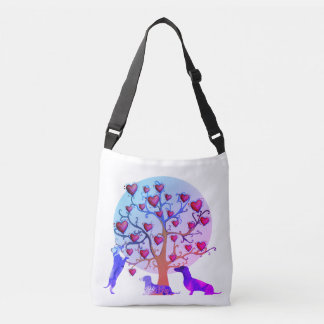Valentine's day illustration, Dachshunds Bag