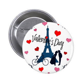 Valentine's day in Paris 2 Inch Round Button