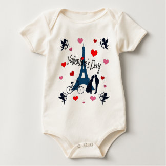 Valentine's day in Paris Baby Bodysuit