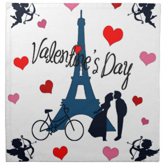 Valentine's day in Paris Napkin