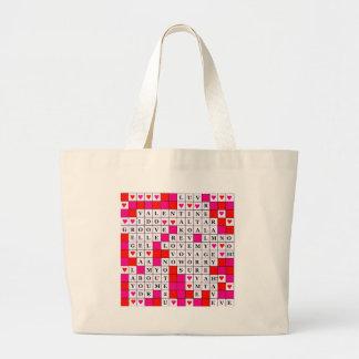 Valentines Day Jumbo Tote Bag
