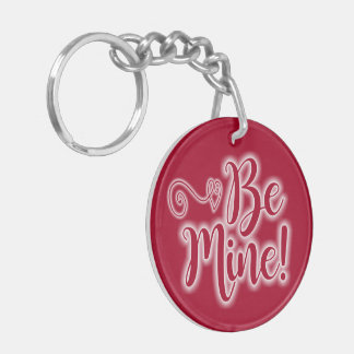 Valentine's Day Key Chain Be Mine Scrolling Hearts