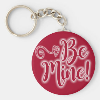 Valentine's Day Key Chain Scrolling Heart Be Mine
