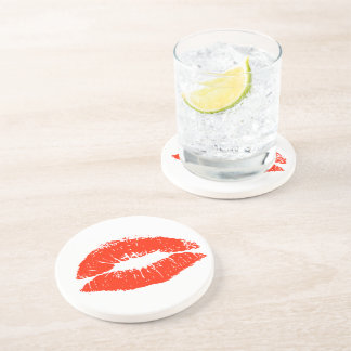 Valentine's Day Kiss of Love Coaster