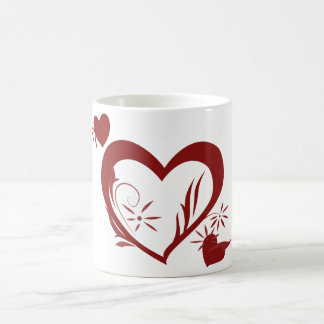 Valentine's Day Lacey Heart Coffee Mug