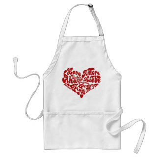 Valentines Day Love All the Words for LOVE Standard Apron