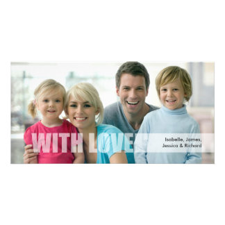 Valentine's Day Love Family Photo Card