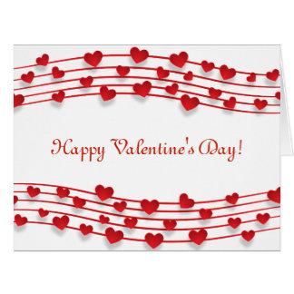 Valentine's Day Many Hearts  Original Design Card