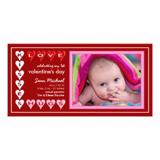 Valentine's Day - New Baby Announcement Photo Cards