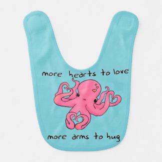 Valentine's Day Octopus bib