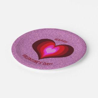 Valentine's Day Paper Plate