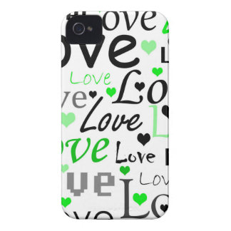 Valentine's day pattern - green Case-Mate iPhone 4 cases