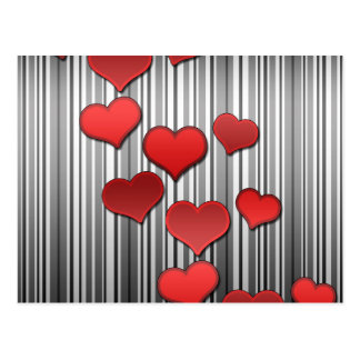 Valentine's day pattern postcard