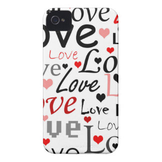 Valentine's day pattern - red iPhone 4 Case-Mate case
