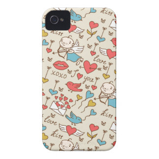 Valentine's Day Pattern with Cupid iPhone 4 Case-Mate Case