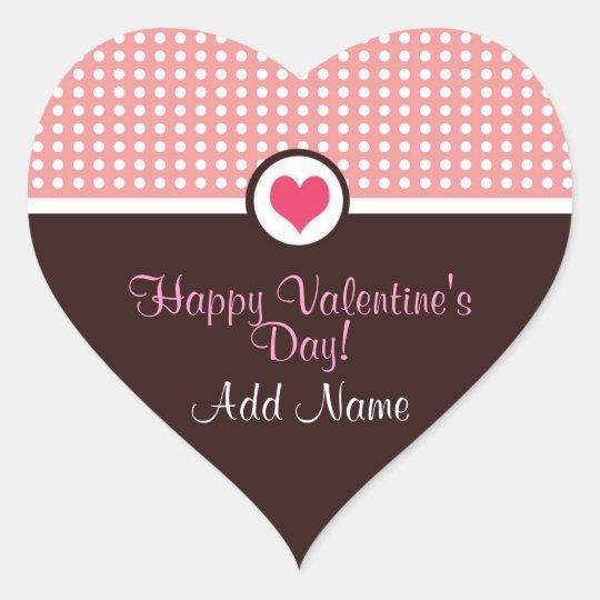 Valentine's Day Personalized Heart Sticker