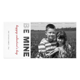 Valentines Day Photo Be Mine White Personalized Card